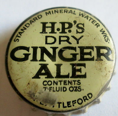 Vintage Canada H P's Dry Ginger Ale Standard Mineral Water Wks  Cap Cork Lined
