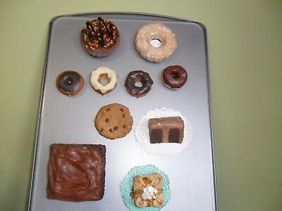 Lot of Vintage Cake & Pastry Food Magnets: Made of Various Mediums..See Pictures