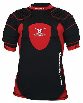 Clearance Line New Gilbert Rugby Triflex XP1 Body Armour Black / Red Large