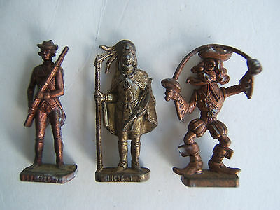 kinder metaux lot pirate  / incas / soldat usa