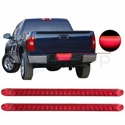 """17/"""" Submersible Clear//Red 23LED Stop Turn Tail 3rd Brake Light Bar Truck Trailer"""