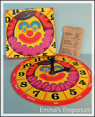 Vintage Circus Clown Clock Jigsaw Puzzle - Learn To Tell The Time