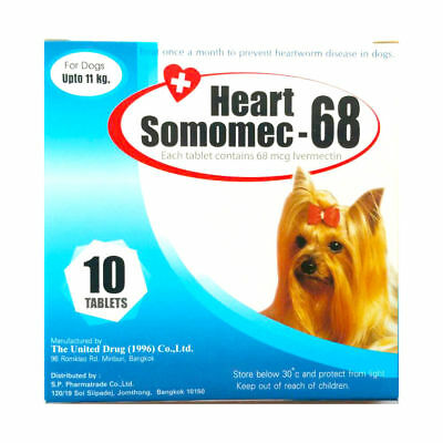 Heart Somomec-68 As a pill to prevent worm heart disease for dogs Up to 24lb