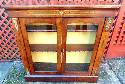 French Ornate Walnut  Bookcase - late 1800s