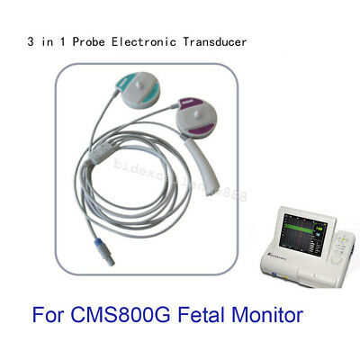 3 in 1 Transducer, TOCO FHR Fetal Movement Probe Only For CONTEC Fetal Monitor