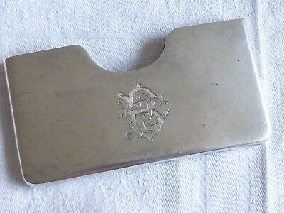Vintage collection antique silver hallmarked 1898 card case