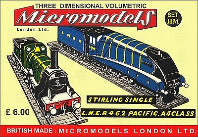 """Micromodels """"SET MH"""" STIRLING SINGLE L.N.E.R 4.6.2 PACIFIC, A4CLASS Kartonmodell"""