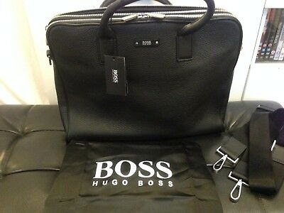 870dbc21c HUGO BOSS COMPACT workbag in grained Italian leather - EUR 307,10 |  PicClick IT