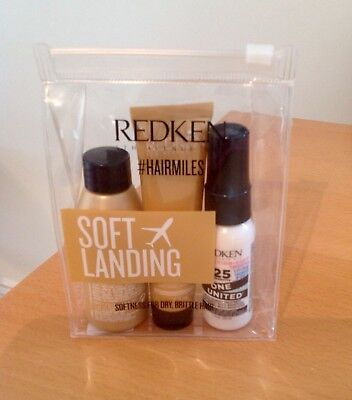 REDKEN Soft Landing Trio Travel Kit ~ All Soft Shampoo, Conditioner & One United