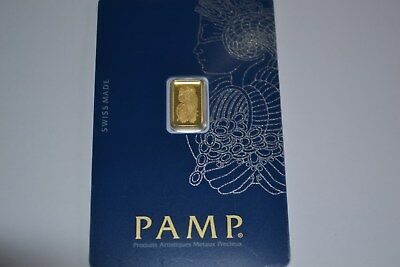 PAMP Suisse Fortuna 1g Gram Fine Gold Bar Bullion 999.9 -