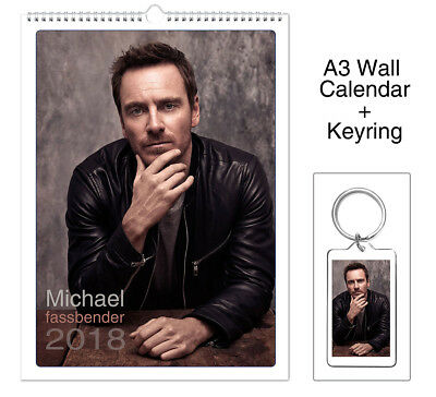 Michael fassbender 2018 Wall Holiday Calendar + Keyring