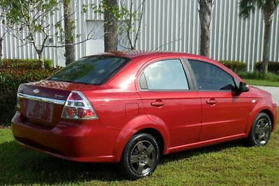 2008 Chevrolet Aveo RARE VICTORY RED w/ CUSTOM WHEEL COVERS~POWER~ FLORIDA CARFAX CERTIFIED AUTOMATIC SEDAN LT~83k MILES~GAS SIPPER~civic corolla