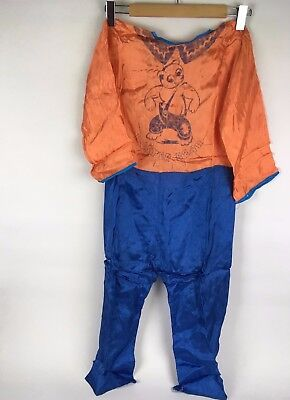 Vintage 1950s Halloween Buster Bear Comic Fabric Childrens Kids 1 Piece Costume