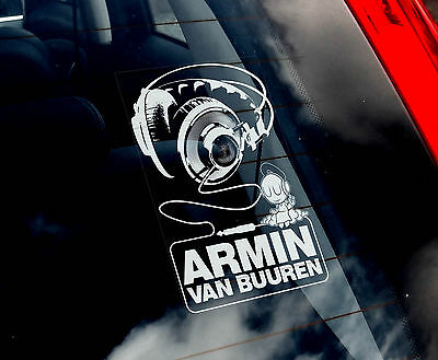 Armin Van Buuren - Dance Car Window Sticker - DJ State of Trance Music Sign