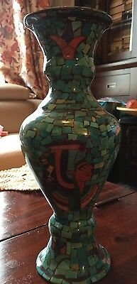 vintage vase blue Geniune Real Egyptian Turquoise