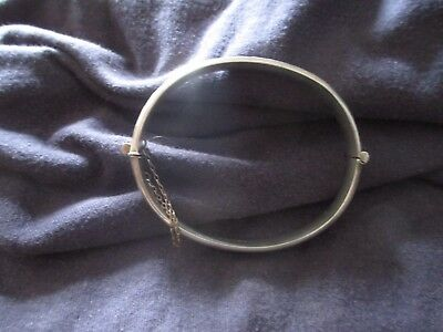 Vintage Sterling Silver Engraved Bangle Bracelet Hallmarked