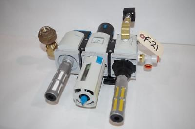 Festo Air Regulator Valve Ms6N-Em1-1/2-5 Ms6N-Lfr-1/2-D6-C-R-M-As  Ee-1/2-10V24S