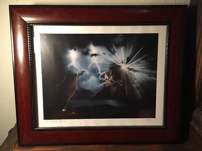 "Ikoshy Montoya  Framed ""the Thunder Being"" Signed Print"