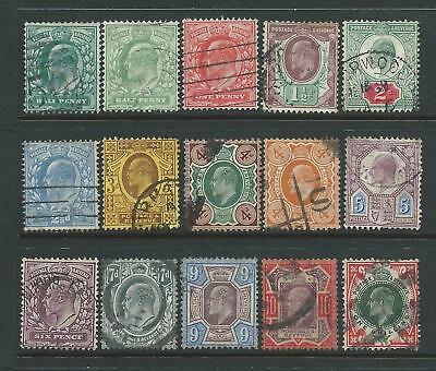 Nice set of EdVII shades good used stamps.