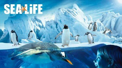 Sea Life Tickets for 2 (any date between 9th Oct 2017 to 18th March 2018)