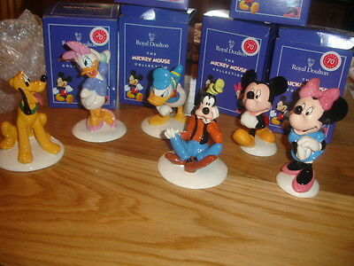 ROYAL DOULTON  70th ANNIVERSARY DISNEY MICKEY MOUSE SET 6 BNIB  MADE IN ENGLAND
