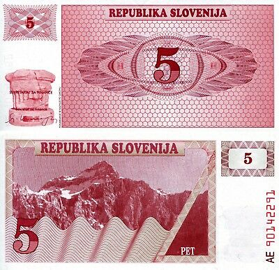 SLOVENIA 10 Tolarjev Banknote World Paper Money UNC Currency Pick p11 1992 Bill