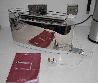 Alessi SG68 W/UK Toaster With Bun Warmer - excellent used condition