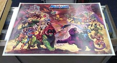 1984 HE-MAN MOTU Masters of the Universe POSTER 23x32 ORIGINAL NOT REPRODUCTION