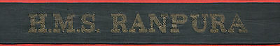 █► Königliche Marine mützenband Royal Navy cap tally hat ribbon 1950