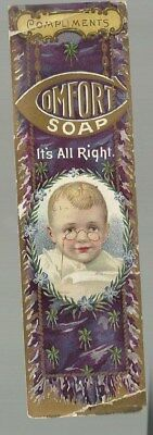 Compliments Comfort Soap Trade Card Collect 25 Soap Wrappers and Get A Book