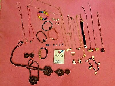 26 Kids Tween jewelry lot Bracelet earring necklace mustache elephant charms ++