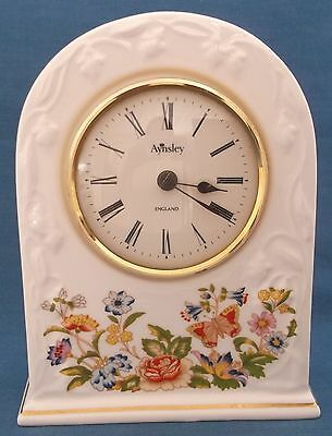 Aynsley Cottage Garden Mantel Clock Fine Bone China England Working