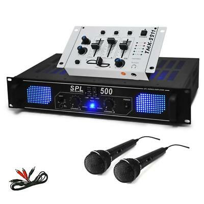 "500W ""DJ-94"" KARAOKE PARTY SET HI-FI PA AMPLIFIER DJ MIXER 2 x MIC BUNDLE SYSTEM"