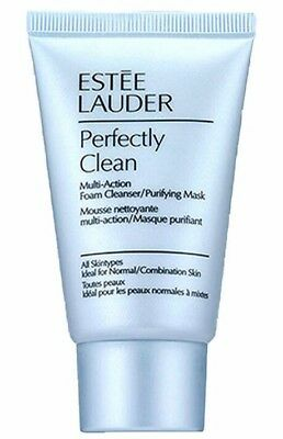 Estee Lauder Perfectly Clean Multi Action Foam Cleanser Purifying Mask 30ml New