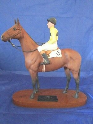 Beswick ARKLE PAT TAAFFE UP issued 1970-82 Model 2084 Connoisseur Horses Perfect