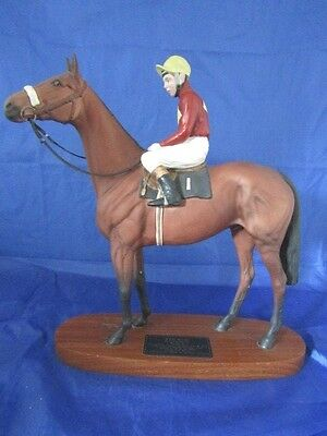 Beswick RED RUM BRIAN FLETCHER UP issued1975-82 Model 2511 Connoisseur Horses
