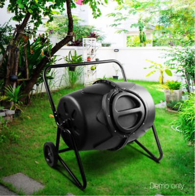 New 190L Compost Tumbler Bin Food kitchen Waste Composter Recycling disposer