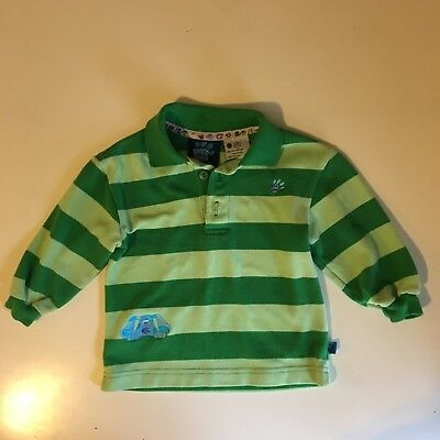 Blues Clues Steve Shirt Toddler Boys Green Striped Size 2t Euc