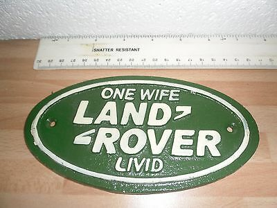 small land rover sign