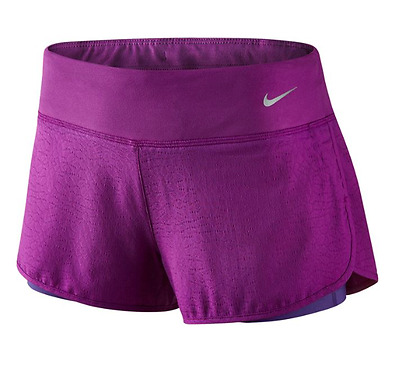 NEW- Nike Rival Jaquard  2-IN-1 Shorts -Running, Gym. Purple Size: Large, BNWT