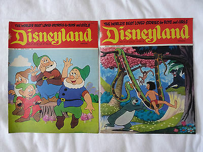 Vintage Collection of 166 Vintage DISNEYLAND Magazines (Issues 9 through 174)