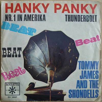 "7"" Tommy James And The Shondells - Hanky Panky - DE 1966 - VG+(+) to VG++"