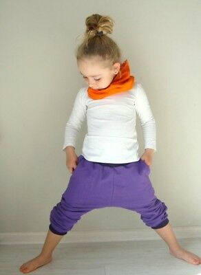 Kids Girls Purple sweatpants Joggers Pants 3/4 4/5 NEW !!! Free Shipping