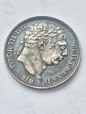 1819 George 111 sixpence (silver .925)