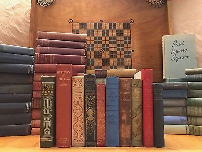 Lot of 10 ANTIQUE/VINTAGE Hardcover Books Collection Set Unsorted and Mixed