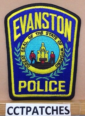 Evanston, Wyoming Police Shoulder Patch Wy