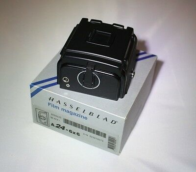 Hasselblad late style film magazine A24 - 6x6 black boxed