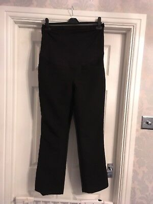 (167) New Look Smart Maternity Trousers Size 12