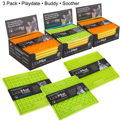 3pk Lickimat Playdate Soother & Buddy Tasty Treat Boredom Busters for Cat & Dog
