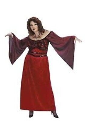 Halloween Dress Witch Costume Dress Witch costume Size Large Red Adult Dress Up